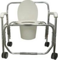 "Transport Shower Chair Aluminum Frame 26"" Seat Width"