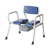 Fixed Arm Commode - Steel Frame