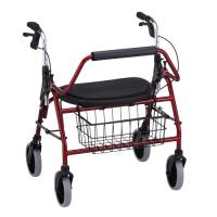 Model 4216 Safety Rollator - Red