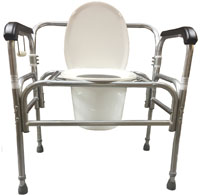 Model 724DAU-A Bedside Commode with Adjustable Seat Height