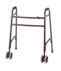 Model 830F Folding Walker Shown with Optional Wheel Kit