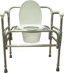 Model 724A Bedside Commode with Adjustable Seat Height