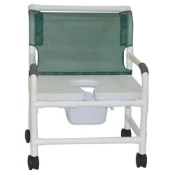 Model 126-4-NB-FSSS Bariatric Shower Chair with Pail