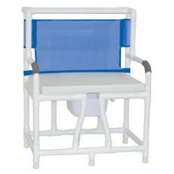 Model 130-C10-BCS Bariatric Bedside Commode with Cushion Seat