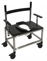 Model 1000PS-DAU Stainless Steel Transport Shower Chair with Droparms