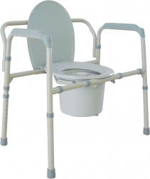 Model DR11117N Bariatric Folding Commode
