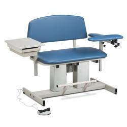 Model CLT-6362 Power, Bariatric, Blood Drawing Chair with Padded Arms and Drawer