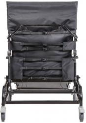 750-TRC back upholstery features adjustable straps to allow upholstery to conform to the user