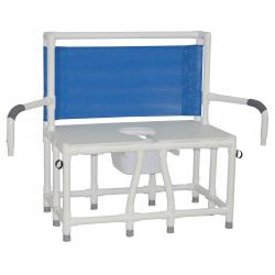 Model 136-C10DDA Bariatric Bedside Commode with Dual Swing Away Armrests